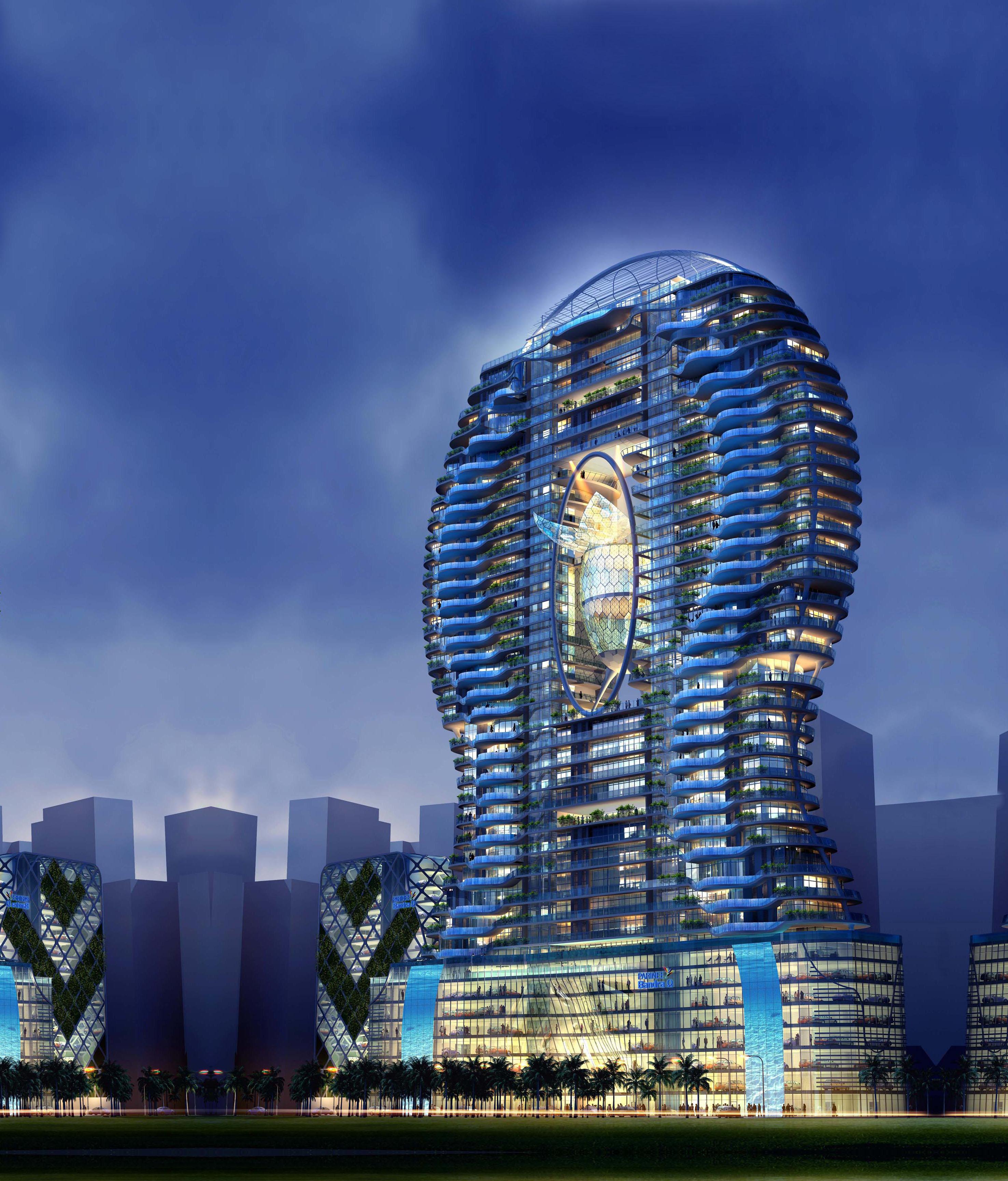 Вертикальный бассейн - здания высоких технологий - инженерны.